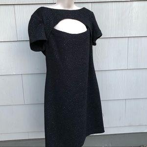 Vintage 90s little black dress sparkle cutout goth